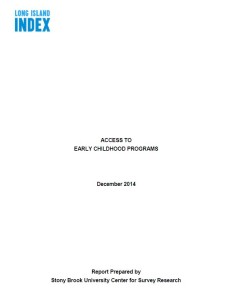 access to early childhood programs