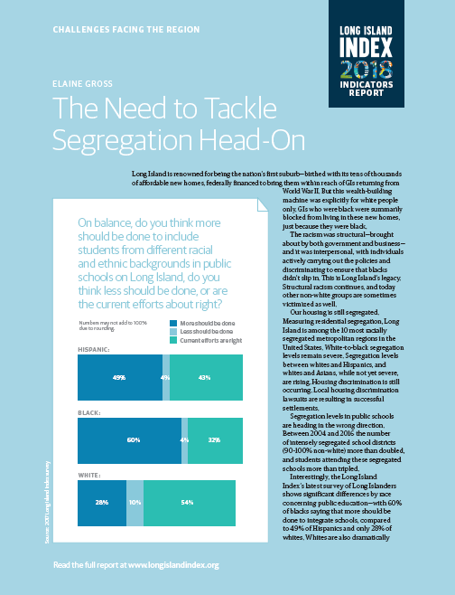 The Need to Tackle Segregation Head On